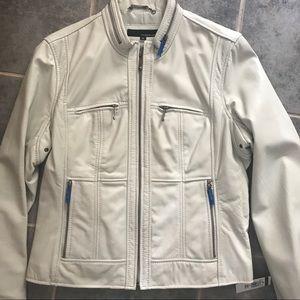 NEW Wilson's Leather Cream Moto Jacket XL
